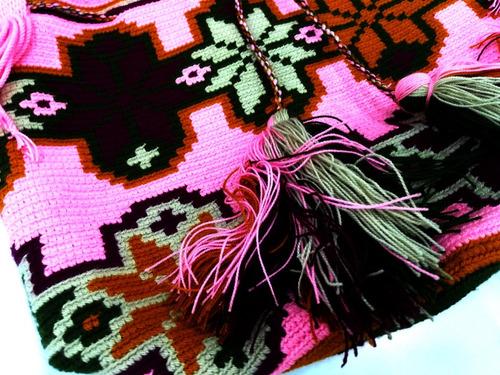 bolso mochila guayu 100% original y artesanal wayuu