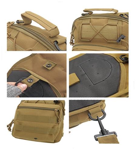 bolso mochila militar táctica pechera cruzada hombro hombre