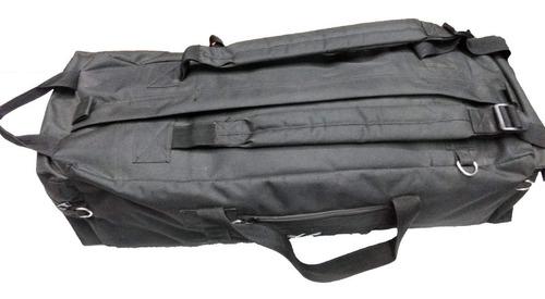 bolso mochila militar tipo tropero 70 lts camuflado o liso