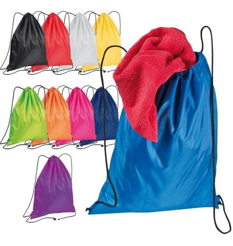 bolso mochila polyester 35 x 43 @ 800 c/u color a elegir.