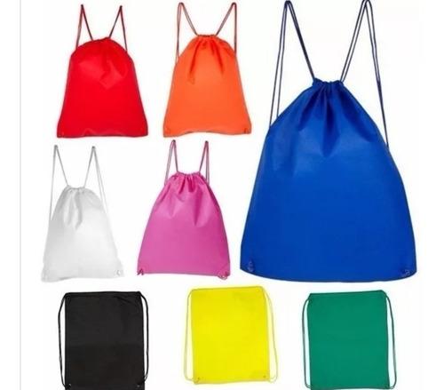 bolso mochila tnt 35x43 reutilizable para estampar / uss