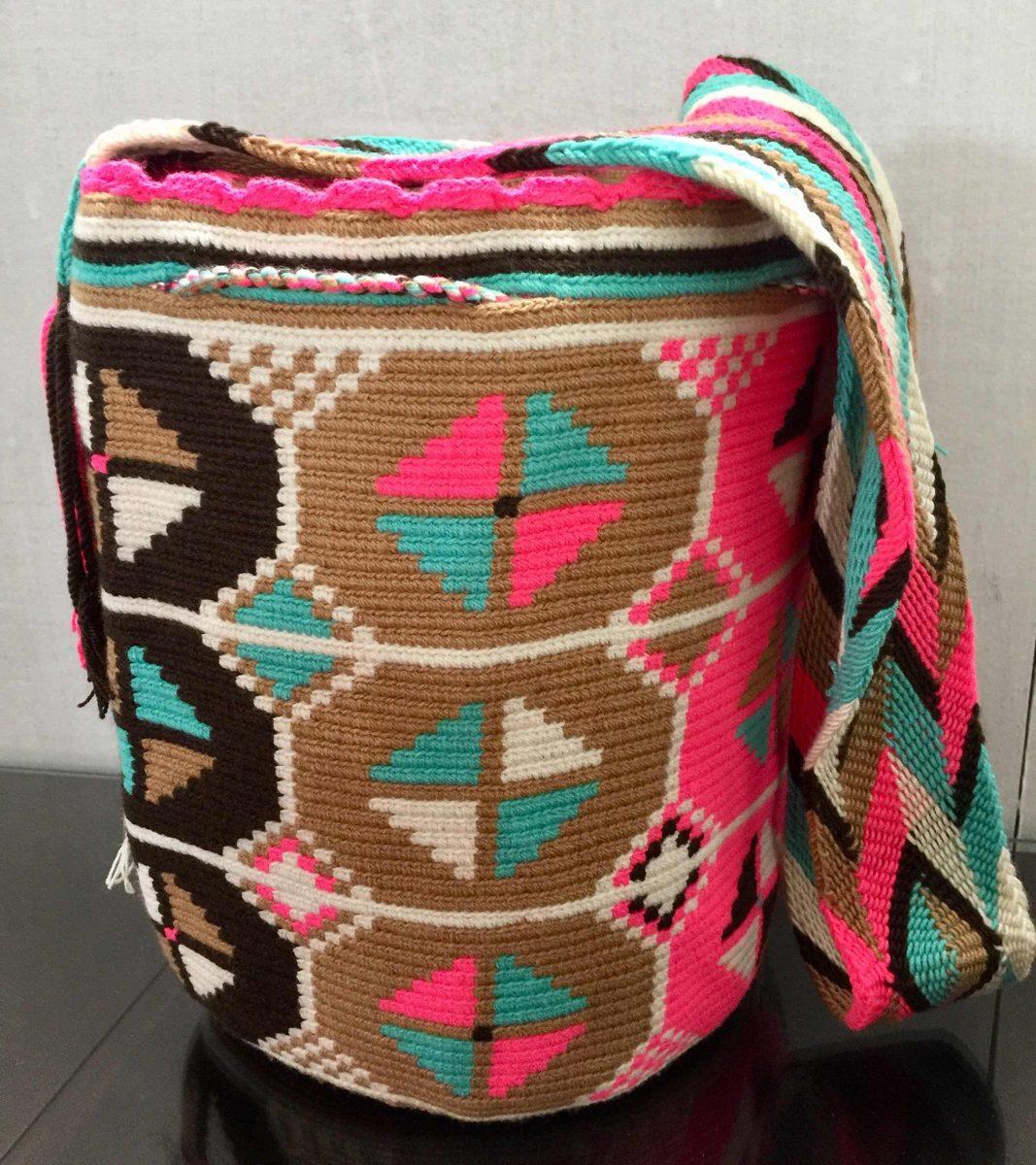 Gasa Wayuu Colores Mochila Diseño Figuras Neutros Bolso XZiOuPk