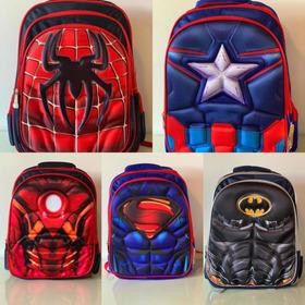 Bolso Morral 3d Superheroe Vengadores Spiderman Supermán