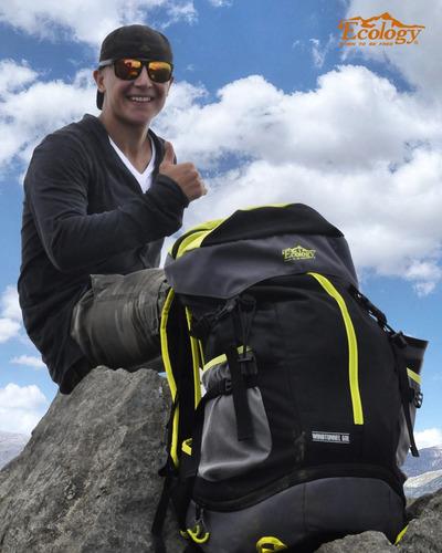 bolso morral mochila de excursión camping 50l ecology