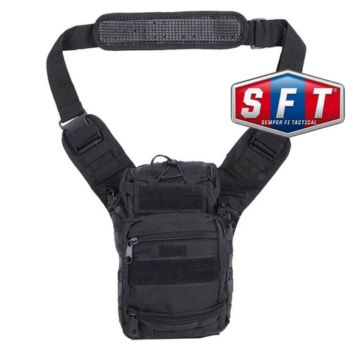 bolso morral táctico first responder molle negro - s f t®