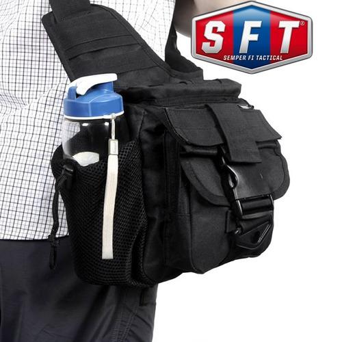 bolso morral táctico push bag negro - semper fi tactical®