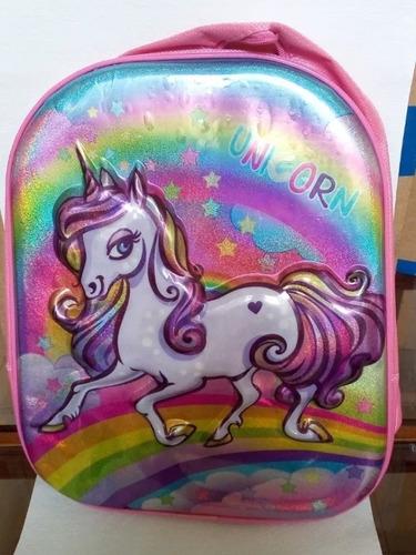 bolso morral unicornio para niñas