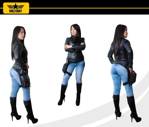 bolso moto mujer canguro piernero morral moto