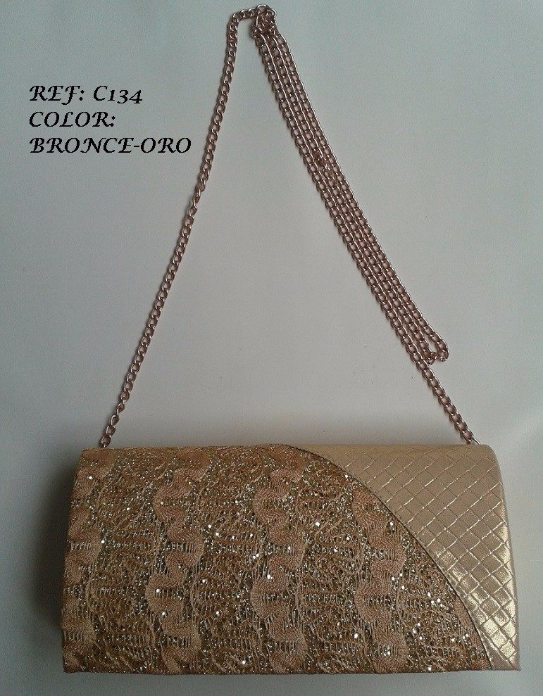 362d04ac2 bolso mujer cartera de noche dama color bronce envio gratis. Cargando zoom.