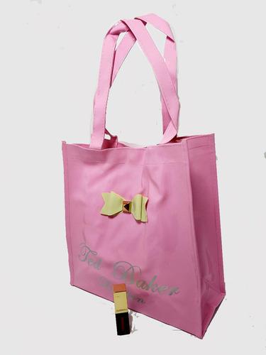 bolso mujer niña pvc + lip gloss guerniss + envio gratis