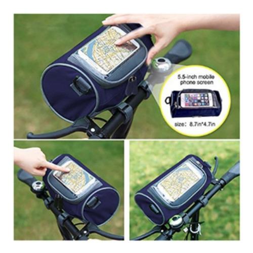 bolso multifuncional para bicicleta con pantalla táctil