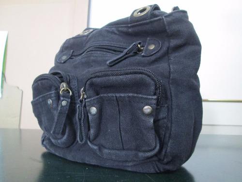 bolso multifuncional varios bolsillos color negro
