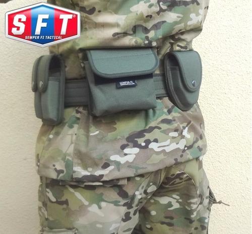 bolso multiuso (porta libreta) verde p/correaje de s f t®