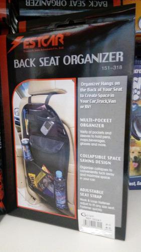 bolso organizador multifunción para respaldo de asiento