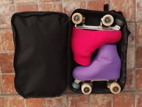 bolso p/ patin artistico tipo mochila doble compartimiento