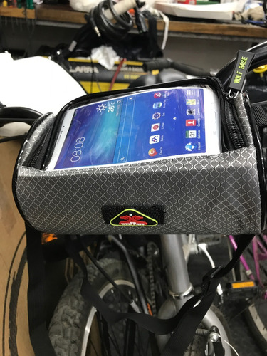 bolso para bicicleta-delantero al manubrio p/celular-works!