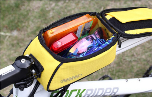 bolso para bicicletas roswheel porta celulares impermebles