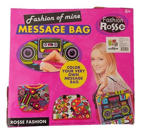 bolso para colorear fashion rosse juego niñas