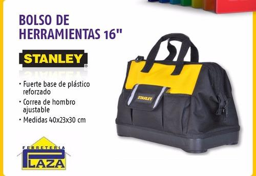 bolso para herramientas 16 boca ancha stanley 516126