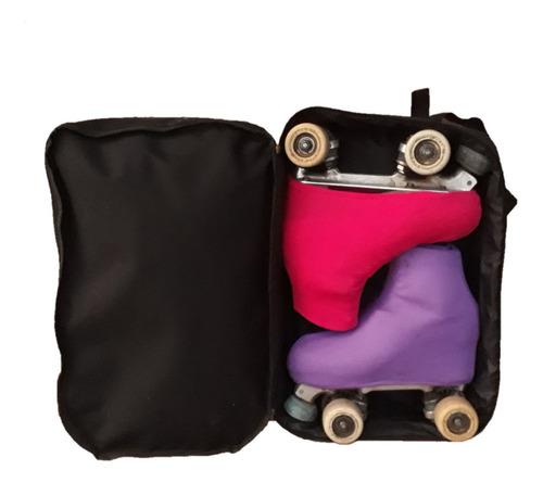 bolso patin artistico yuco mochila doble compartimiento + personalización