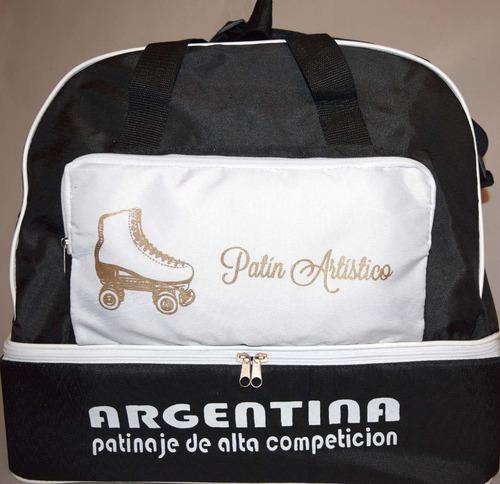 bolso patines cajon artistico roller colores logo a pedido