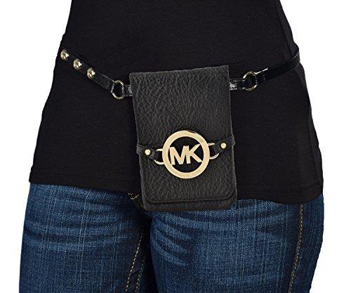 Bolso Pequeño Mk Logo Cinturón Negro