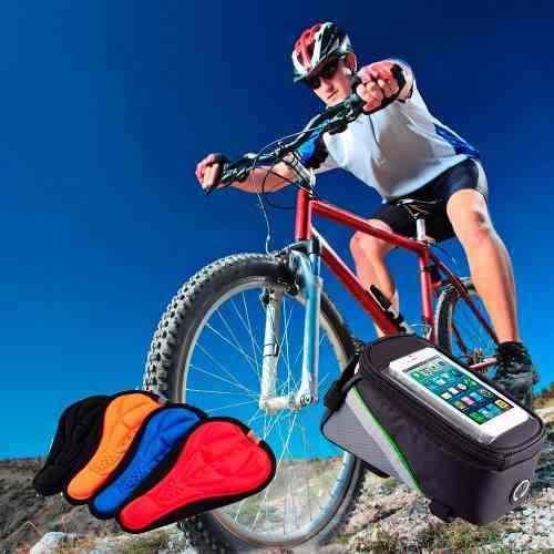 bolso porta celular para bicicleta+forro cubre asiento