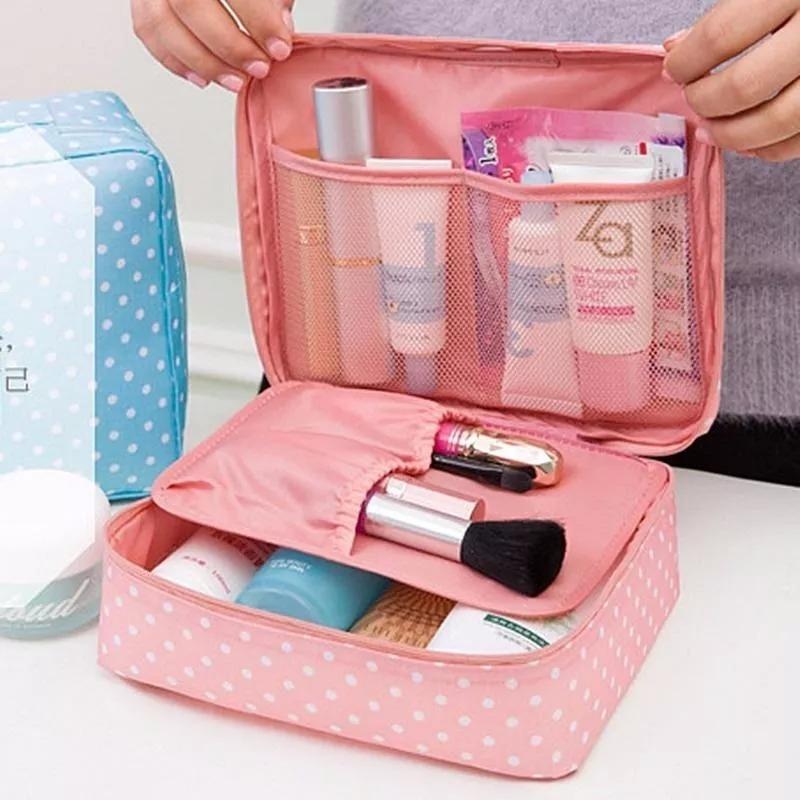 5b1e33255 Bolso Porta Cosmético De Viaje Organizador Baño Maquillaje - $ 362 ...