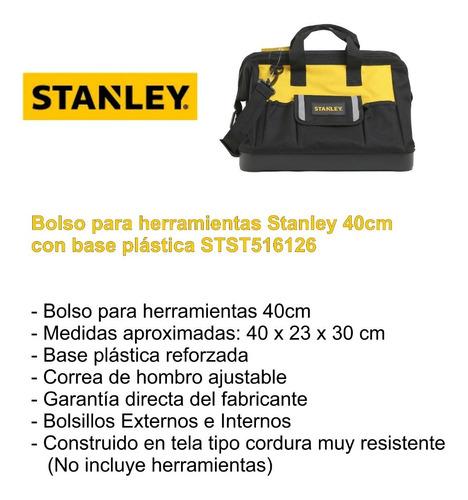 bolso porta herramientas maletín stanley 40cm stst516126