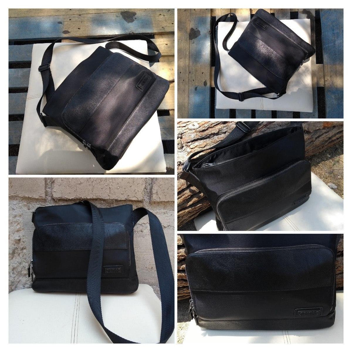 52eb216cb Bolso Porta Tablet - Mensajero Negro Outlet Guess - $ 900.00 en ...