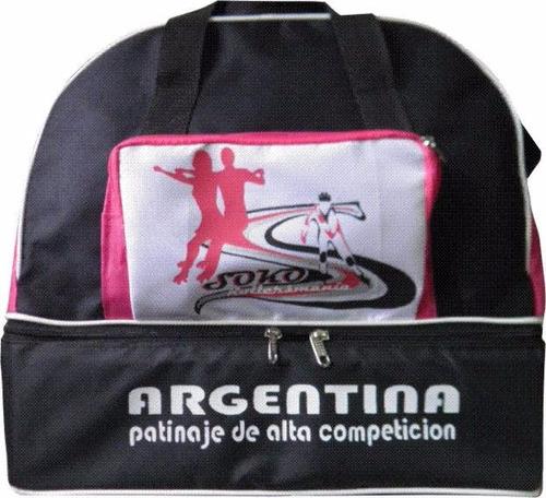 bolso portapatines cajon baul artistico rollers hielo hockey