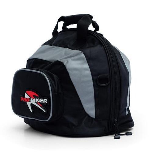 bolso portatil impermeable moto casco color negro