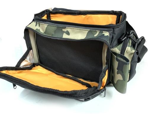 bolso riñonera morral pesca vadeo señuelos + 2 cajas 3600