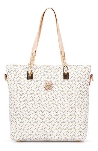 bolso set de 5 piezas con estampado geom trico
