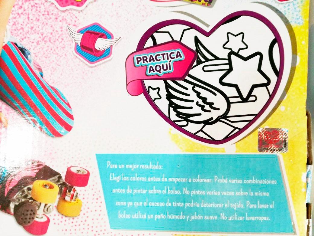 Bolso Soy Luna Para Colorear Porta Patines Surbaby 06816