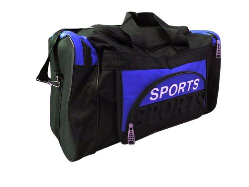 bolso sport deportivo reforzado varios cierres tiras 47cm
