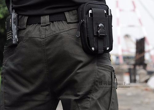 bolso táctico molle ajustable a correa porta-celular