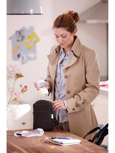 bolso térmico cartera therma bag porta mamaderas leche bebe de viaje para auto compacta mantiene calor y frio bebes niño