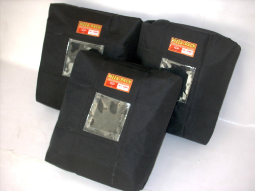 bolso termico pizza pack - empanadas: delivery box 3 pizzas!
