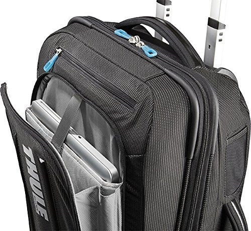 bolso thule 3201502 crossover 38 liter rolling carry-on with