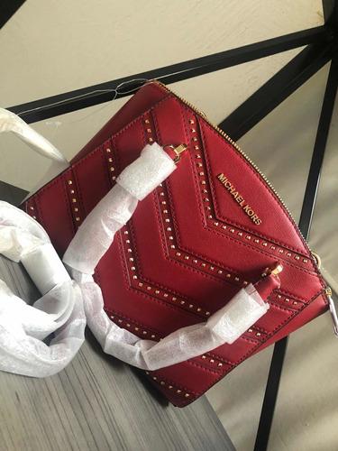 bolso tipo crossbody mk color rojo nuevo tamaño s-m