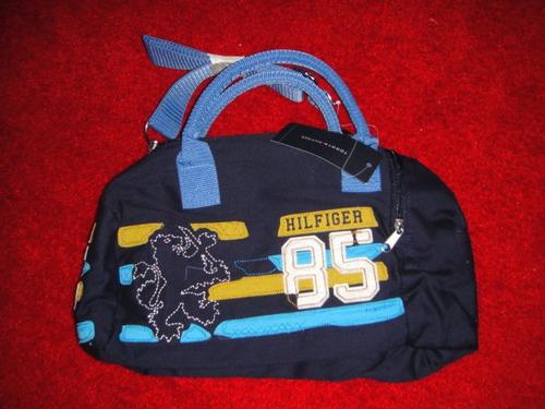 bolso tommy hilfiger de azul con bordado ( 1015 )