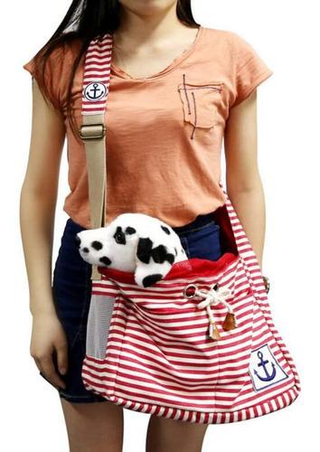 bolso transportador de tela para perro o gato
