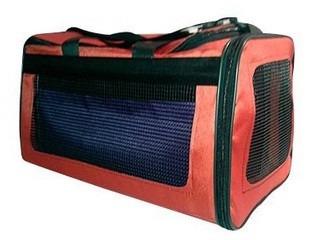 bolso transportadora tela para gatos hauspet