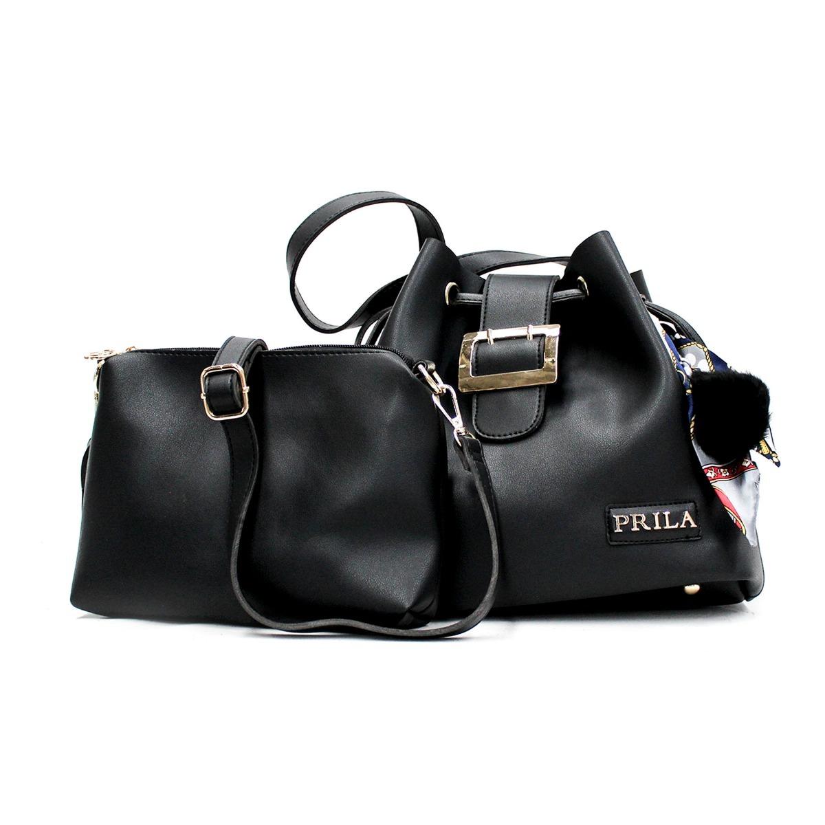 34e92e876 Bolso Tula Kit Doble Prila Max - Negro - $ 99.900 en Mercado Libre