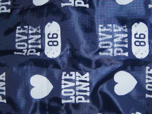 bolso victoria secrets azul plastico ( 504 )
