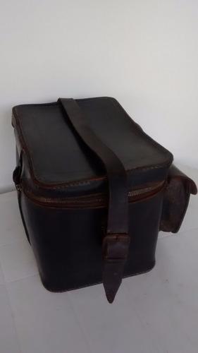bolso vintage antiguo de cuero m.r. canoas, ind.arg.