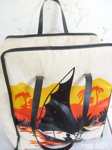 bolso vintage retro playa