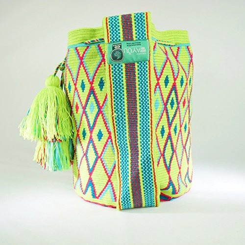 bolso wayuu - mochila grande - diseño - premium - 2392