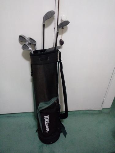 bolso wilson golf + 6 palos hombre